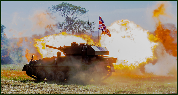 Warwickshire Tank event - Tanks Trucks and Firepower event Dunchurch near Rugby Warwickshire August 2019